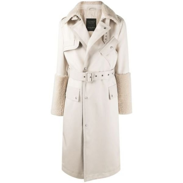 ELIZABETH SULCER'S SHEARLING AND LEATHER TRENCH FOR WOMAN
