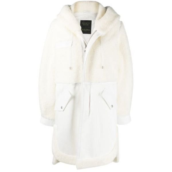 ELIZABETH SULCER'S  SHEARLING AND LEATHER PARKA FOR WOMAN