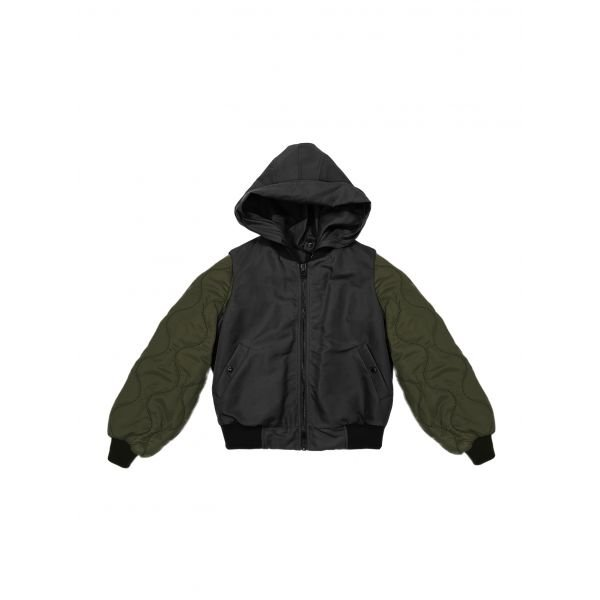 UNISEX BOMBER WITH DETACHABLE SLEEVES