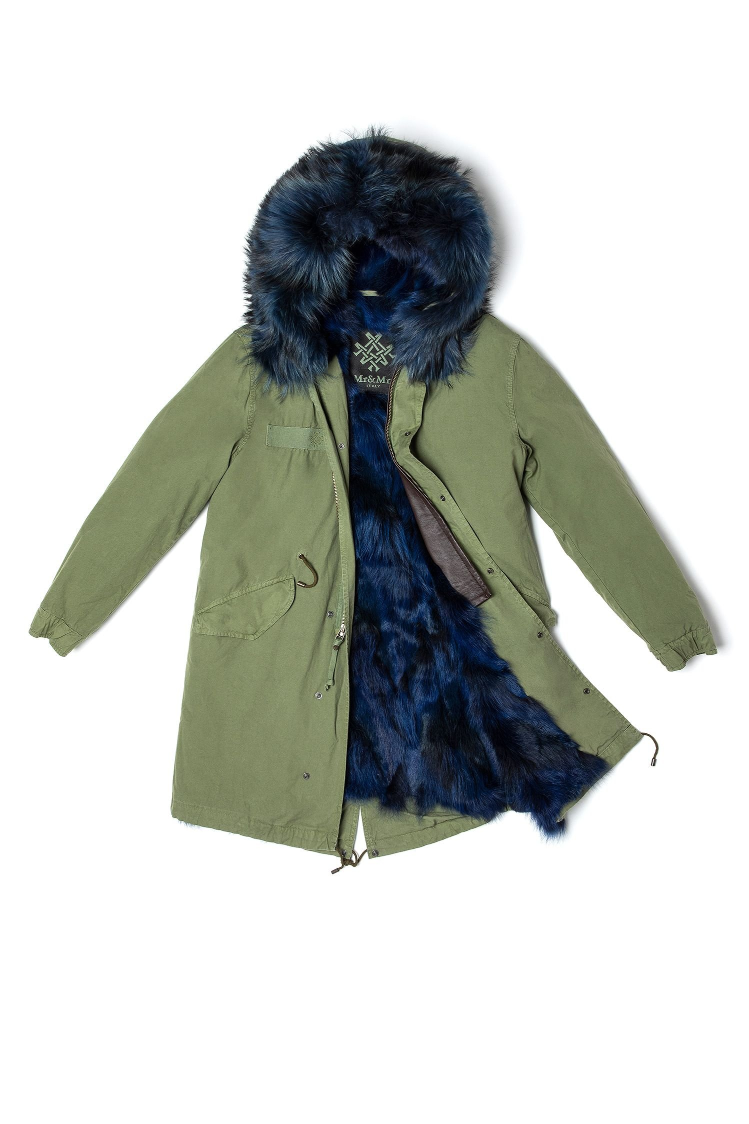 PARKA WITH DYED COYOTE FUR